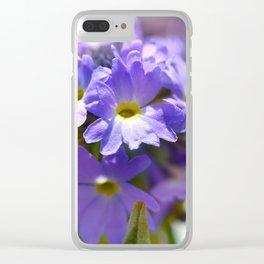 Purple Primrose Clear iPhone Case