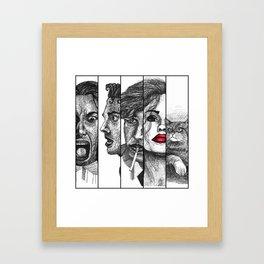 Film Noir Collage Framed Art Print