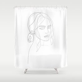 Her Look Shower Curtain