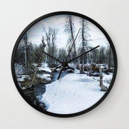 Dreaming of Cottonwood Creek Wall Clock