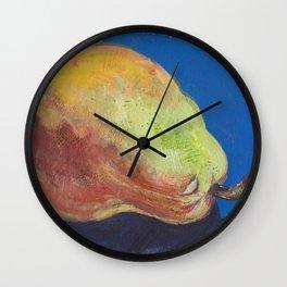 Pear in Mixed Media Wall Clock