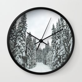 WALKING IN A WINTER WONDERLAND Wall Clock