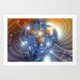 Borg (Orange) Art Print