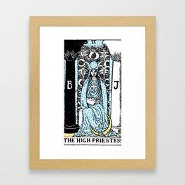Modern Tarot - 2 The High Priestess Framed Art Print