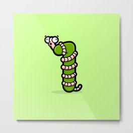 The One Wiggly Worm Metal Print