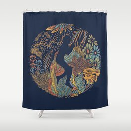 b e Shower Curtain