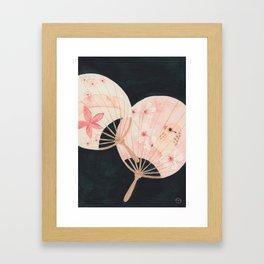 2 Paper Fans Framed Art Print