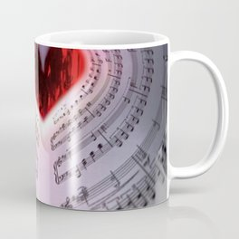 'For the Love of Music' Sheet Music Art Motif Coffee Mug