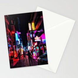 Vibrant Seoul Nights Stationery Cards