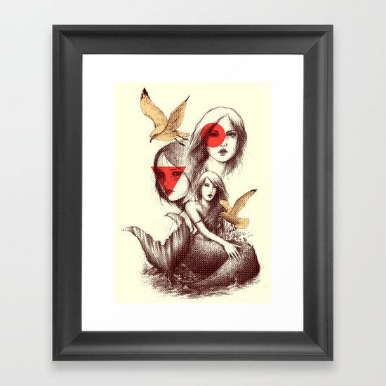When Mermaids Cry Framed Art Print