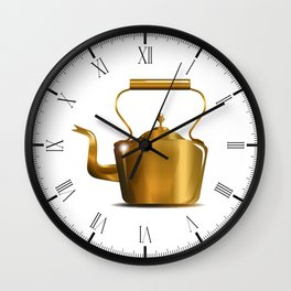 Victorian Copper Kettle Wall Clock