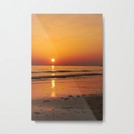 A Golden Gower Sunset Metal Print