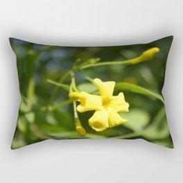 Carolina Jasmine Single Bloom In Sunlight Rectangular Pillow