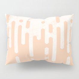 Marble and Geometric Diamond Drips, in Peach Pillow Sham