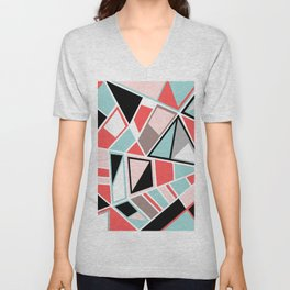 Abstract #534 Facets Unisex V-Neck