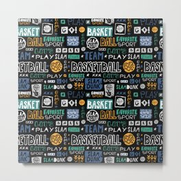 Basketball sketch. Pattern. Metal Print