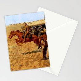 "Frederic Remington Western Art ""Pony Express"" Stationery Cards"