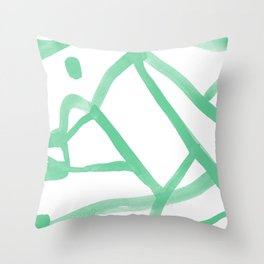 Abstract Map green Nr.2 Throw Pillow