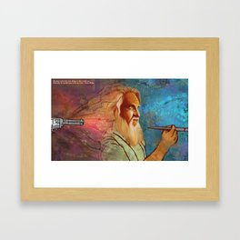 Death by Paintbrush Framed Art Print