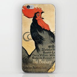 Cocorico by Theophile Steinlen, 1899 iPhone Skin