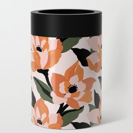 Bold orange poppy on a soft pink base Can Cooler