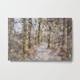 Abstract Mosaic Metal Print