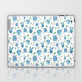 Blue Bunny Pattern Laptop & iPad Skin