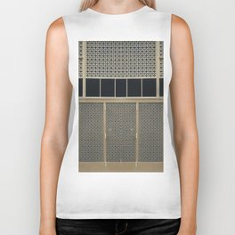 The Wall (pattern) Biker Tank