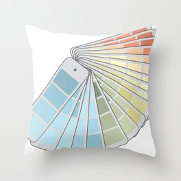 Paint Swatches Throw Pillow