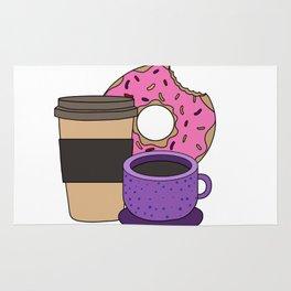 coffee donut Latte Macchiato Cappuccino Caffeine Rug