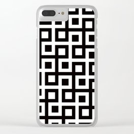 Geometric Pattern 33 (square loop) Clear iPhone Case