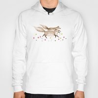 running Hoodies featuring Running Foxes by Sophie Corrigan