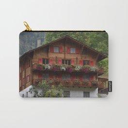 Swiss Alpine Chalet in Valais Switzerland Carry-All Pouch