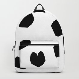 Love Yourself no.2 - black heart pattern love art black and white illustration Backpack