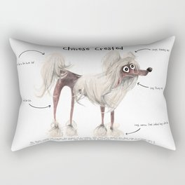 C is for Chinese Crested Rectangular Pillow