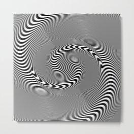 Illusion spirale Metal Print