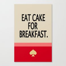Kate Spade Inspired Eat Cake For Breakfast Canvas Print