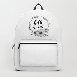 Hello March Line Art Backpack