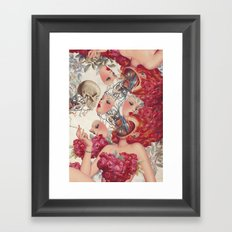 face to face *collage Framed Art Print