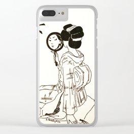 Geisha #2 Clear iPhone Case