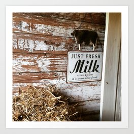 Fresh Milk Art Print