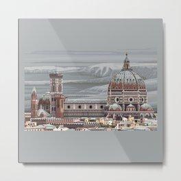 Cathedral Santa Maria del Fiore, pixel art Metal Print