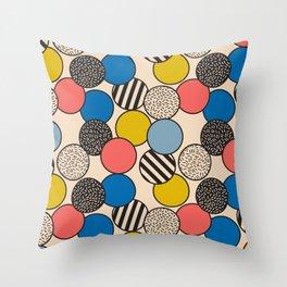 Memphis Inspired Pattern 5 Throw Pillow