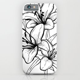 Life and Rebirth. Exotic flower illustration iPhone Case