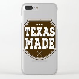 Texas Made Clear iPhone Case