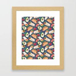mexican cuisine Framed Art Print