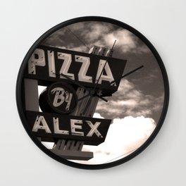 Pizza By Alex Wall Clock