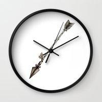 arrow Wall Clocks featuring Arrow by holmeg_art