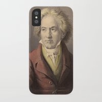 beethoven iPhone & iPod Cases featuring Beethoven by Palazzo Art Gallery