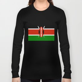 Kenyan national flag - Authentic version Long Sleeve T-shirt